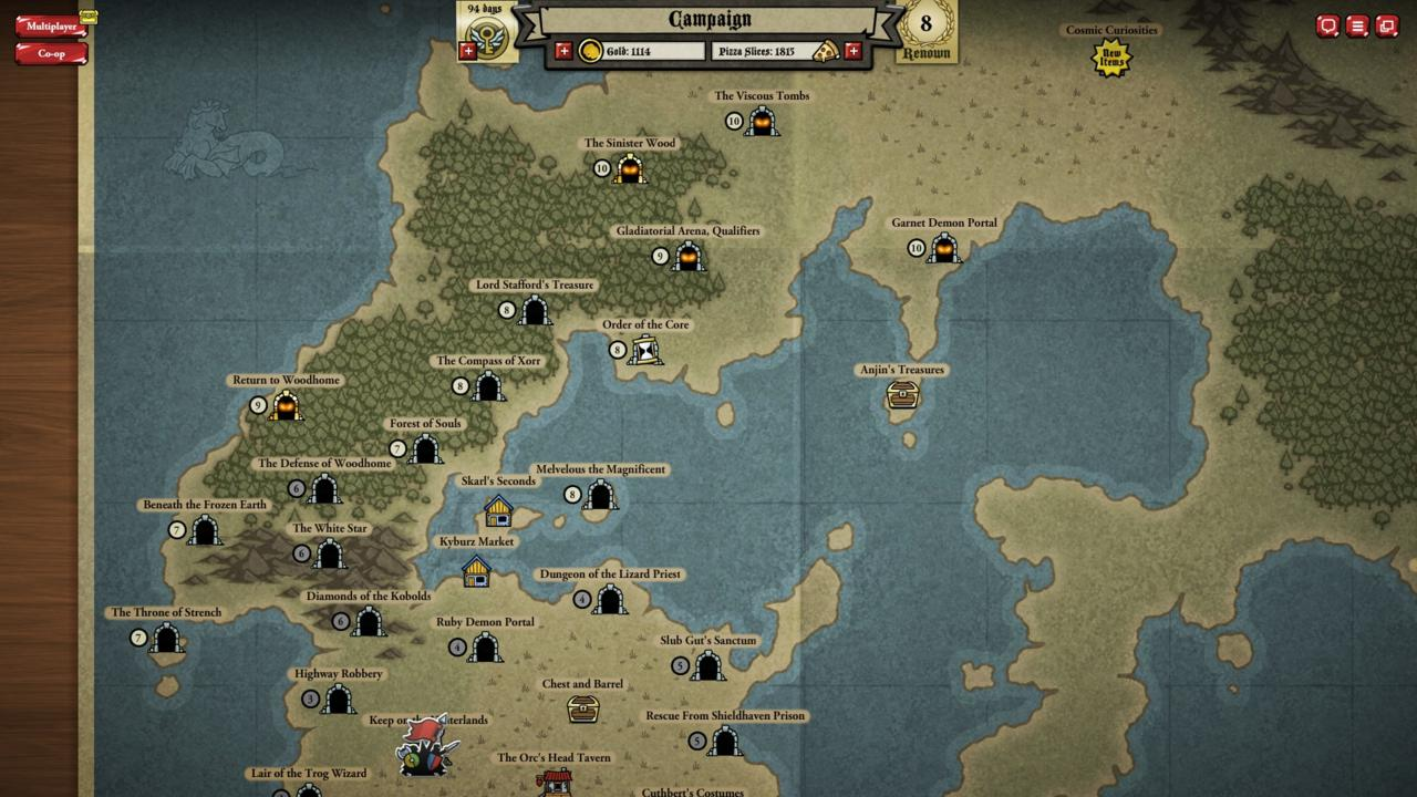 The sheer size of the initial campaign map is so impressive and so loaded with modules that you may never need to spend a cent to get a lot of gaming out of Card Hunter.
