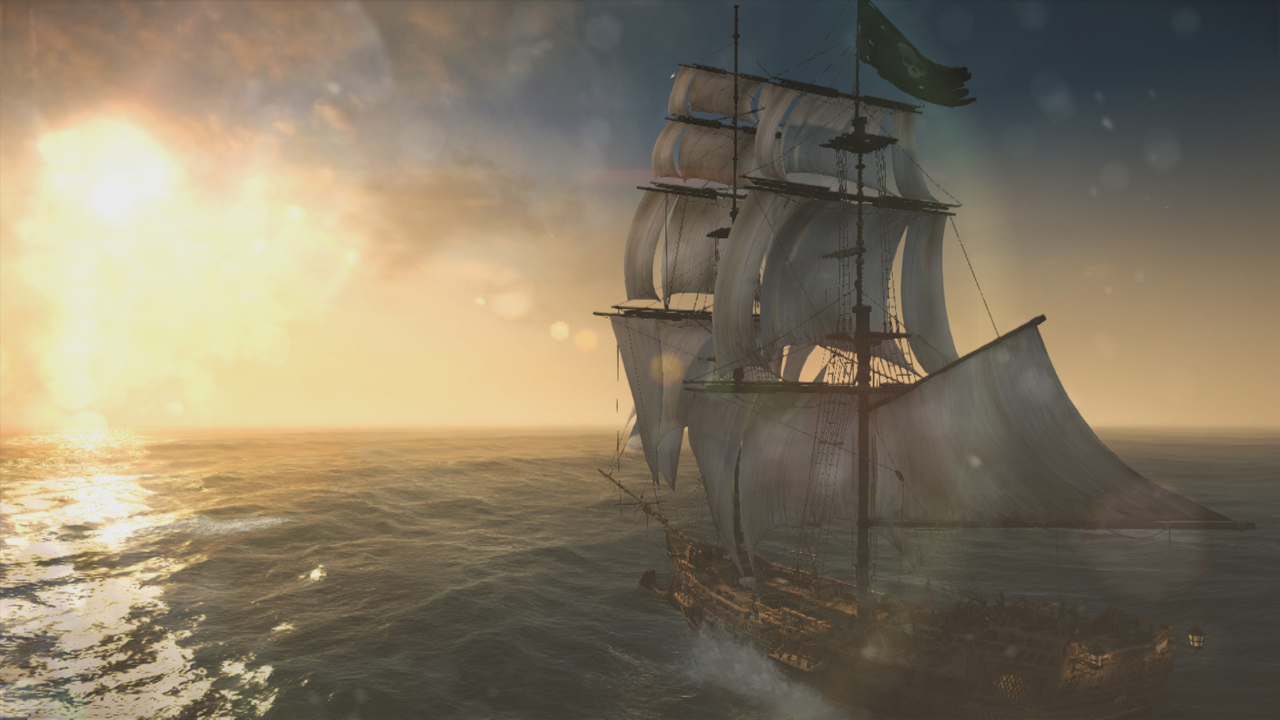 Simply sailing into the sunset is a delight in Assassin's Creed IV: Black Flag.