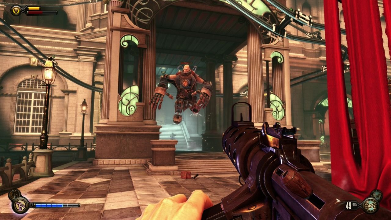 BioShock's Big Daddy's made sense in Rapture. These fools are just poor imitators.