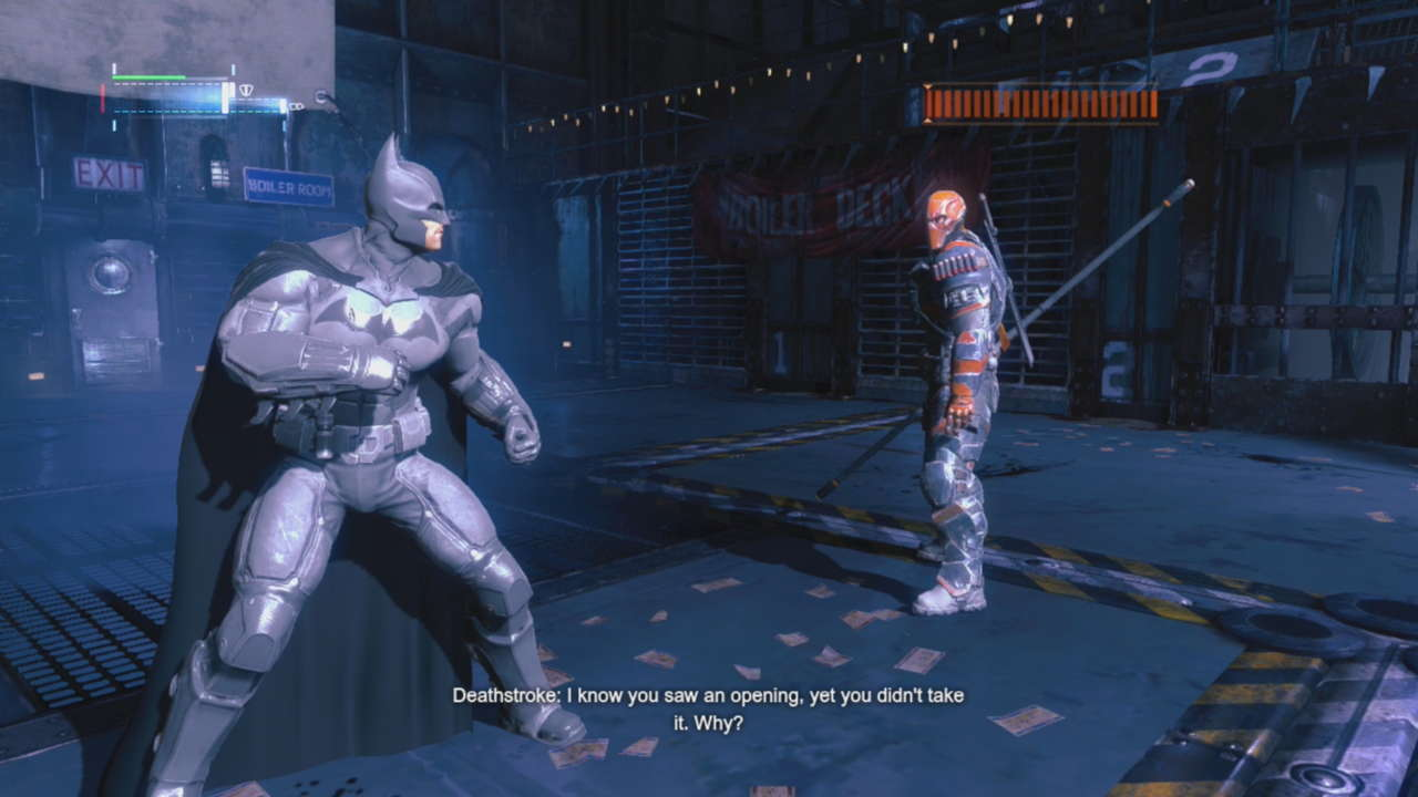 Are you a bat enough dude to counter all of Deathstroke's attacks?