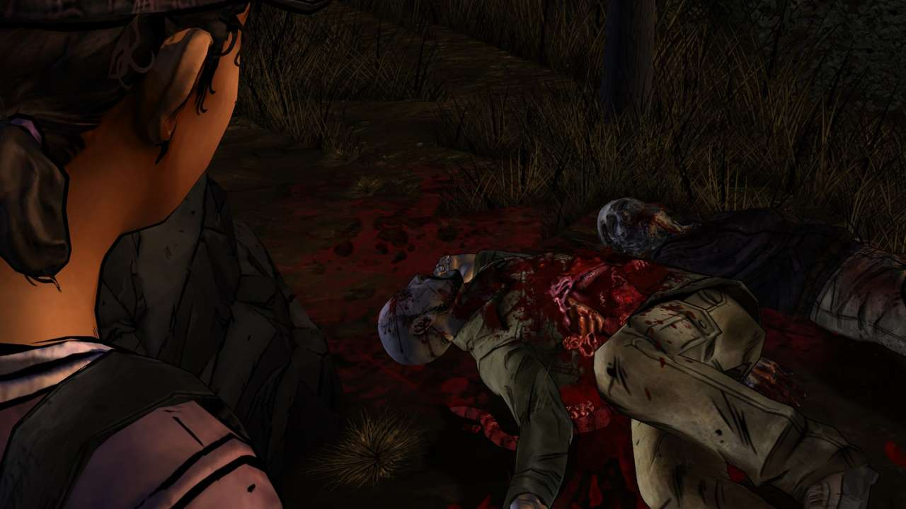 From good pals to masticated corpses in less than a minute. Such is life for Clementine now that she's on her own.