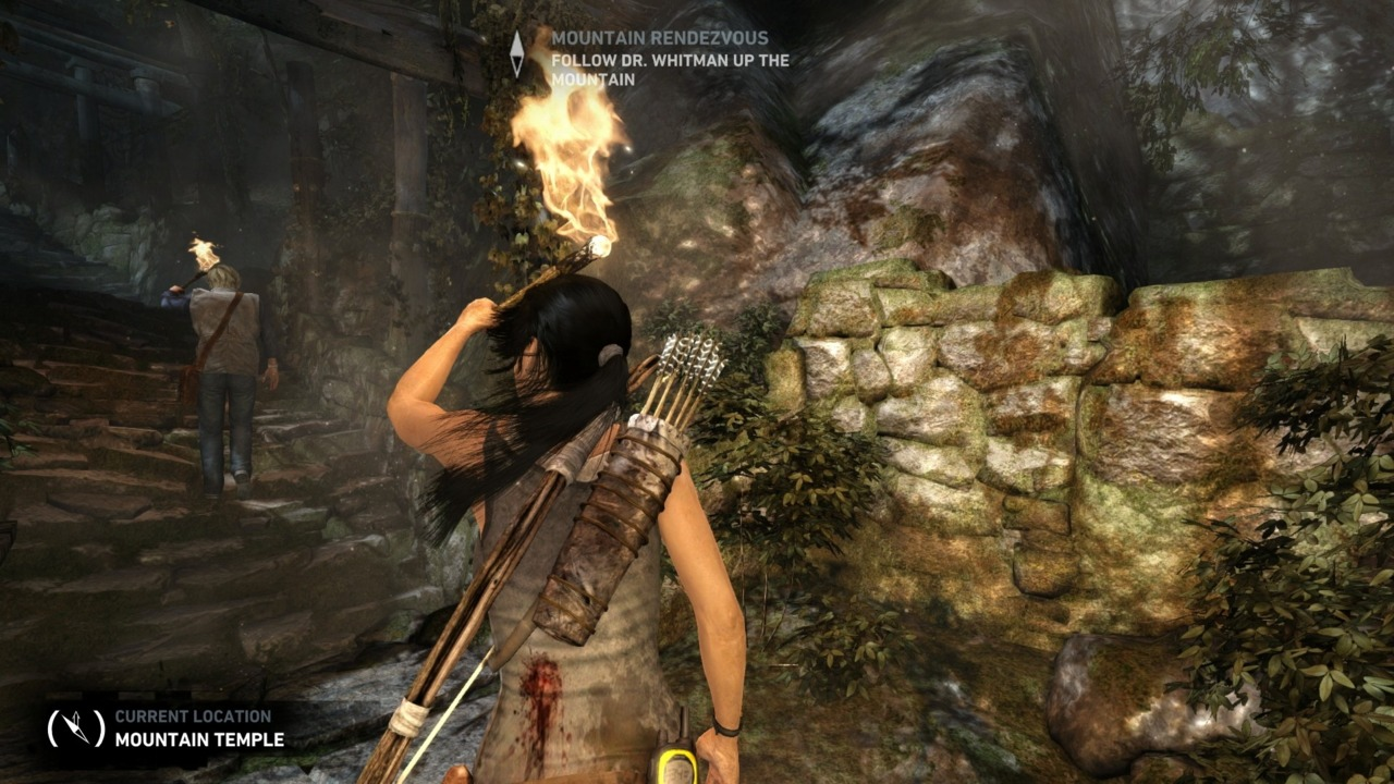 You can enable TressFX if you want to see Lara's hair behave in mysterious ways.