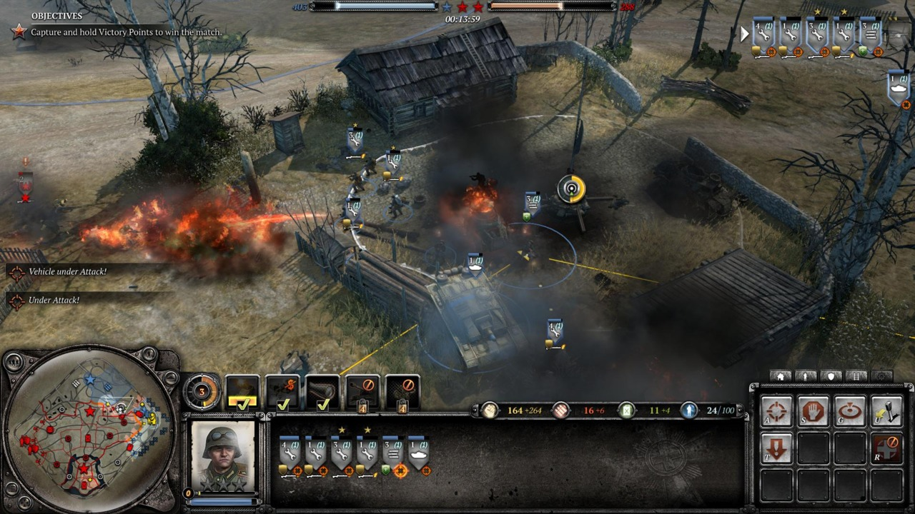 Armor is vital, but you need infantry to capture victory points.