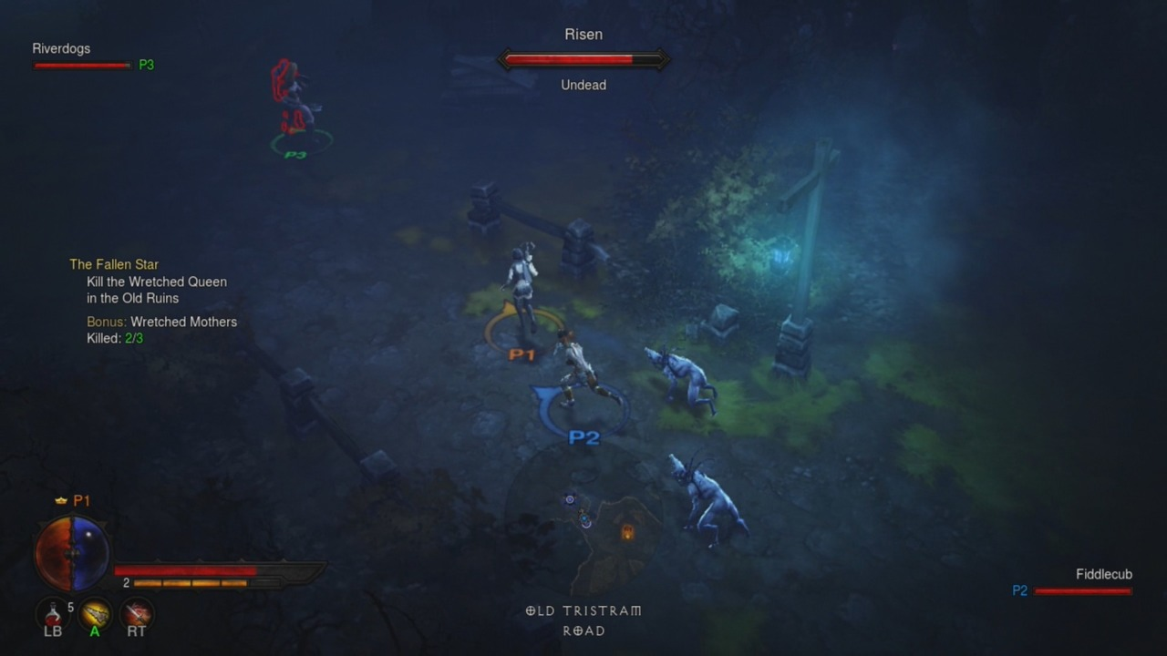 Diablo III is better with other players, even when those other players are followed around by creepy zombie dogs.