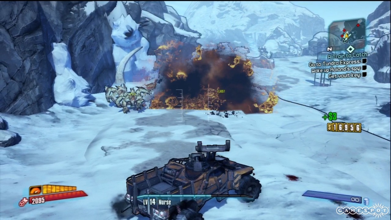 A car that catapults explosive barrels: only on Pandora.