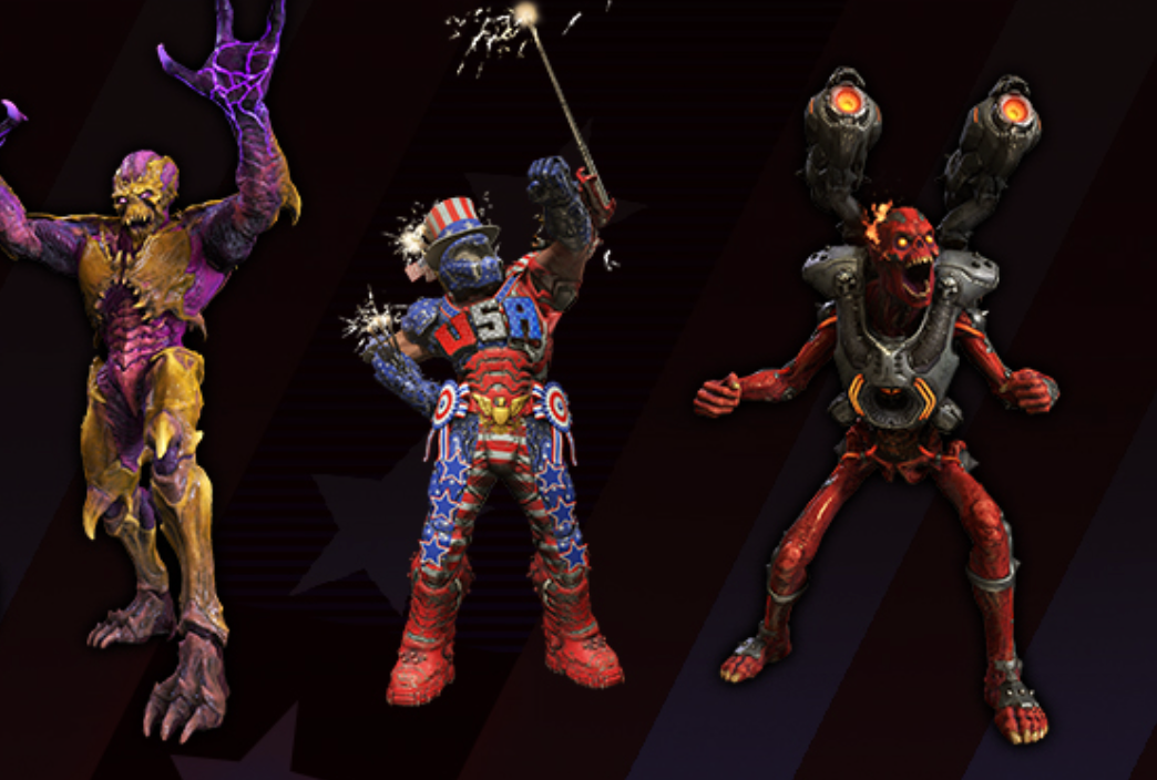 Doom Eternal Celebrates 4th Of July With USA Skins And Fireworks