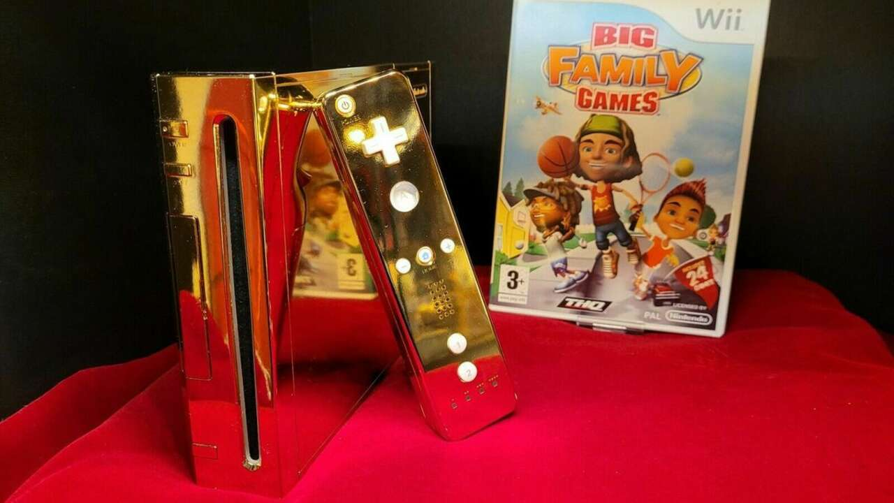 The Queen's Golden Wii Is Up For Sale, If You Have A Spare $300k