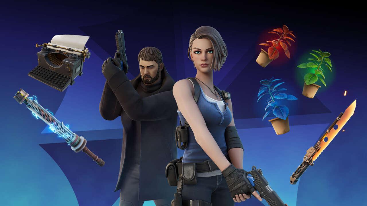 Fortnite Resident Evil Skins Bring Chris Redfield And Jill Valentine To Battle Royale