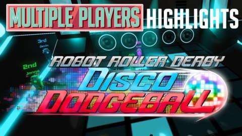 Robot Roller-Derby Disco Dodgeball Highlights - Multiple Players