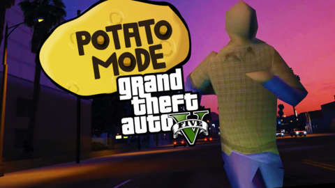 We Turned GTA 5's Graphics Into Mud   Potato Mode