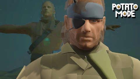 We Liquefy Metal Gear Solid V's Graphics   Potato Mode
