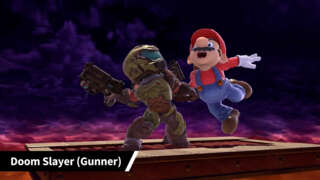 Super Smash Bros. Ultimate Doom Slayer (Gunner), Octoling (Wig), and Judd (Hat) Mii Costumes Trailer