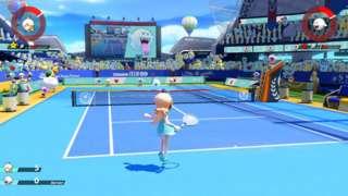 Mario Tennis Aces Switch Gameplay - Rosalina vs. Boo