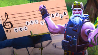 Fortnite - Play the Sheet Music On The Pianos Near Pleasant Park and Lonely Lodge Challenge Guide (Season 7, Week 2)