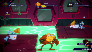 Battletoads Gameplay: Beatin' Up Bad Guys In A Theme Park