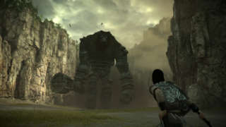 Shadow of the Colossus Off Screen PS4 Gameplay - First Colossus Fight