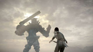 Shadow of the Colossus Off Screen PS4 Gameplay - Third Colossus Fight