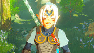 Fierce Deity Armor And Sword In Zelda: Breath Of The Wild Gameplay