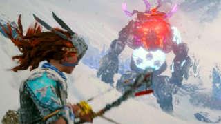 Horizon Zero Dawn: The Frozen Wilds Gameplay - Killing The New Frostclaw