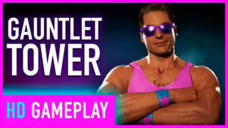 Johnny Cage Fighting Through The Gauntlet Tower | Mortal Kombat 11