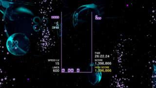 4K Tetris Effect 600 Line Marathon Mode On PC - Max Settings Gameplay