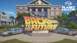 Planet Coaster - Back to the Future Time Machine Construction Kit