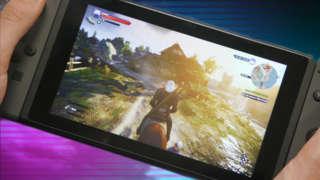 The Witcher 3 Nintendo Switch Handheld Gameplay