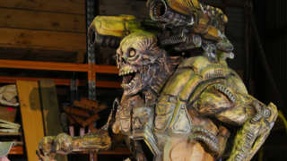 Watch This Doom Enemy Be Sculpted With A Chainsaw