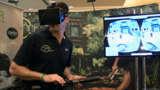Oculus Plus Virtuix Omni Treadmill Equals Holodeck - CES 2014